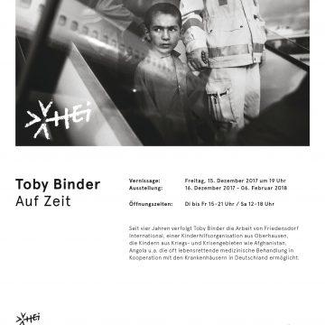 Auf Zeit –  Ausstellung von Toby Binder im HEI in München