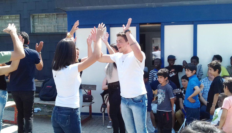 Brasilianer begeisterten die Kinder