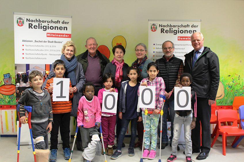 Nachbarschaft der Religionen spendet 1.000 Euro