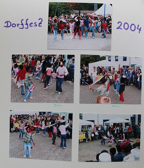 Erinnerungen des Friedensdorf-Leiters Kevin Dahlbruch an vergangene Dorffeste.