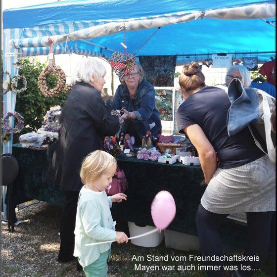 Der Freundschaftskreis Mayen auf dem Dorffest 2019.