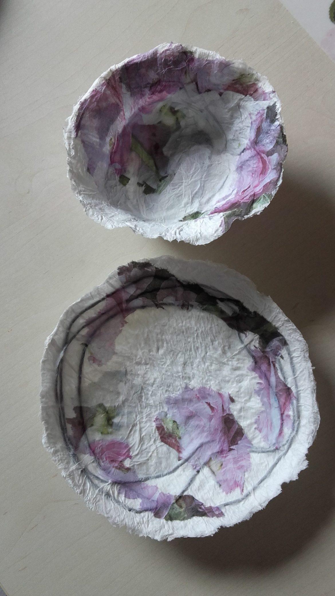 Workshop: Schalen aus Papiermaché