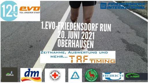Anmeldung für den evo-Friedensdorf-Run gestartet