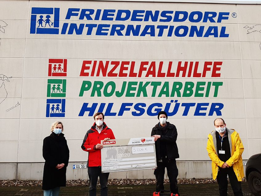 Hilti Winterwochen unterstützen Friedensdorf International