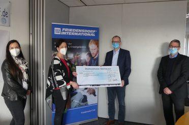 WBO spendet an das Friedensdorf