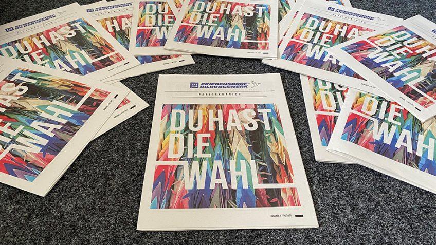 """Neue friedenspolitische Zeitung """"Papierkranich"""" ist ab sofort erhältlich"""