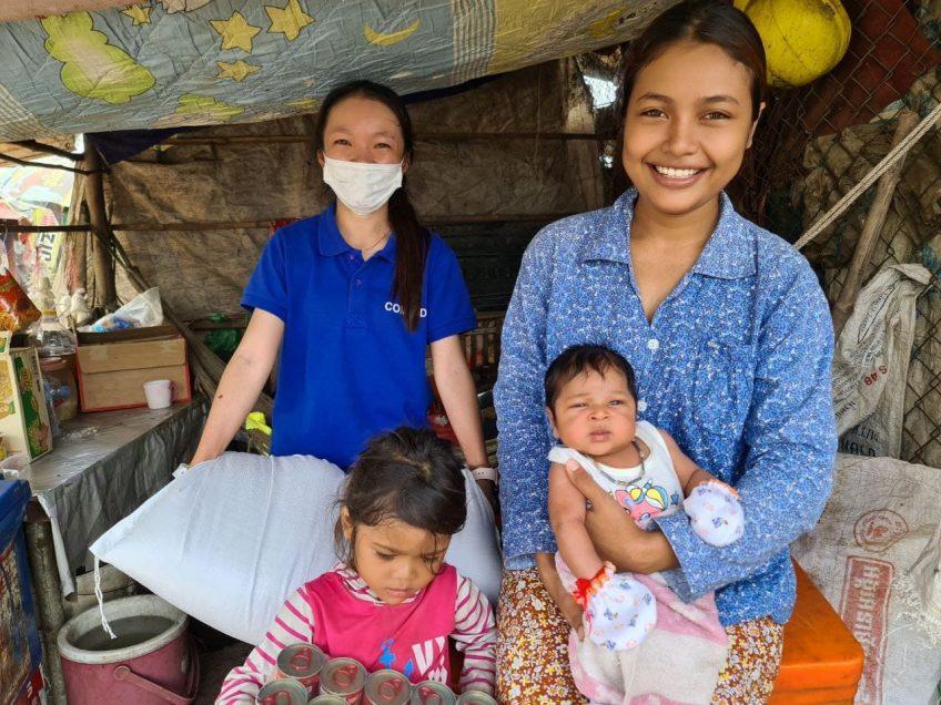Unterstützung für Müllsammlerfamilien in Kambodscha